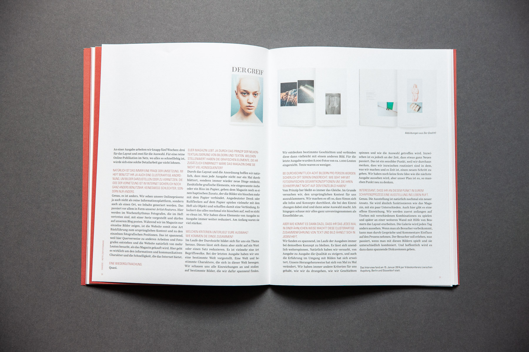Cahiers Interview der greif